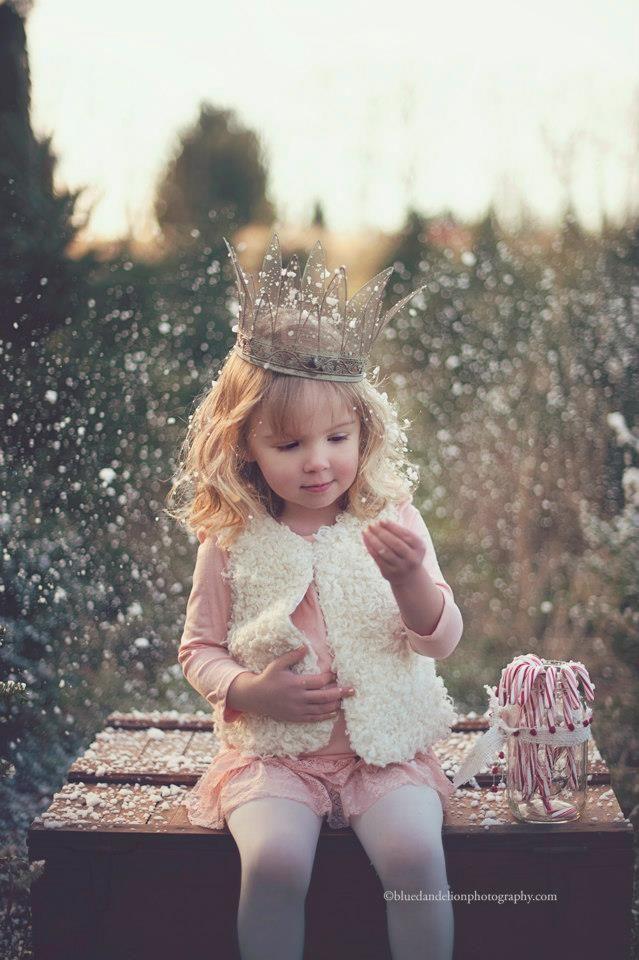 Little Princess in cotton field